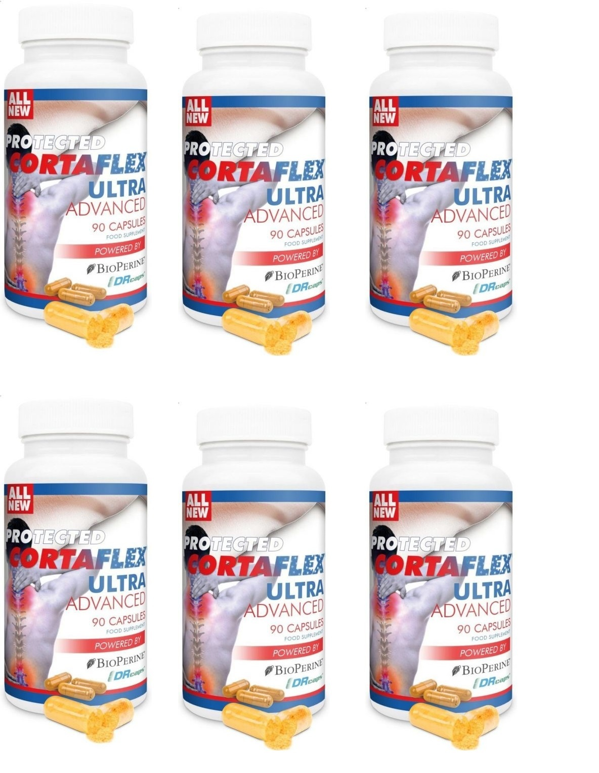 Dental Supps Protected Cortaflex Ultra Advanced, 90 Capsules, 6-pack
