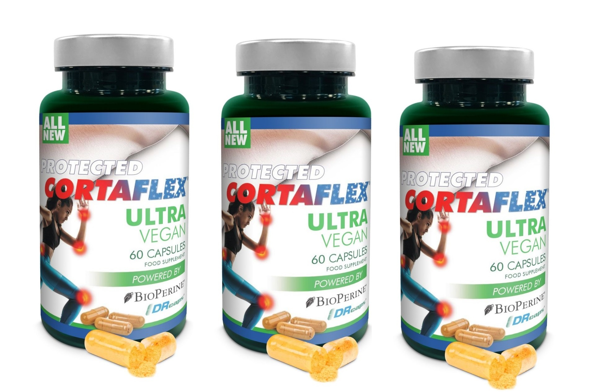 Dental Supps Protected Cortaflex Ultra Vegan, 60 Capsules, 3-pack