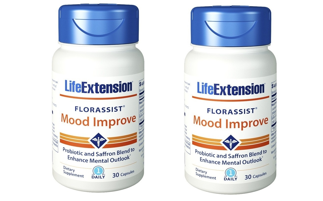 Life Extension FLORASSIST® Mood Improve, 30 Capsules, 2-pack