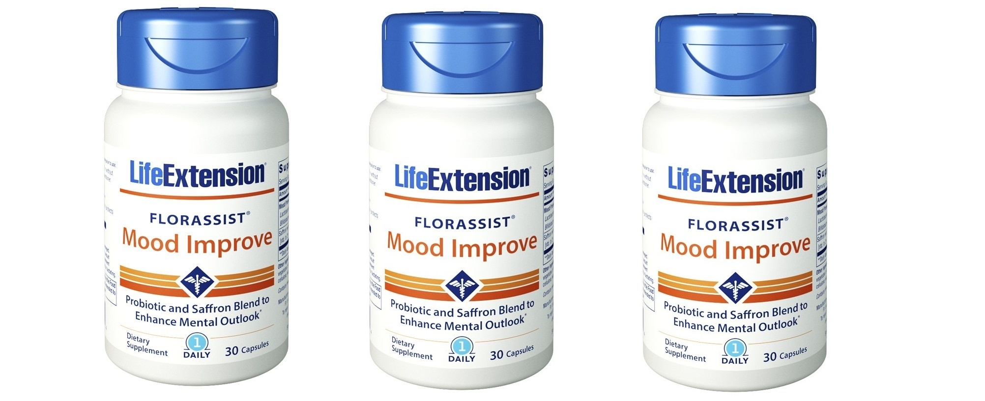Life Extension FLORASSIST® Mood Improve, 30 Capsules, 3-pack