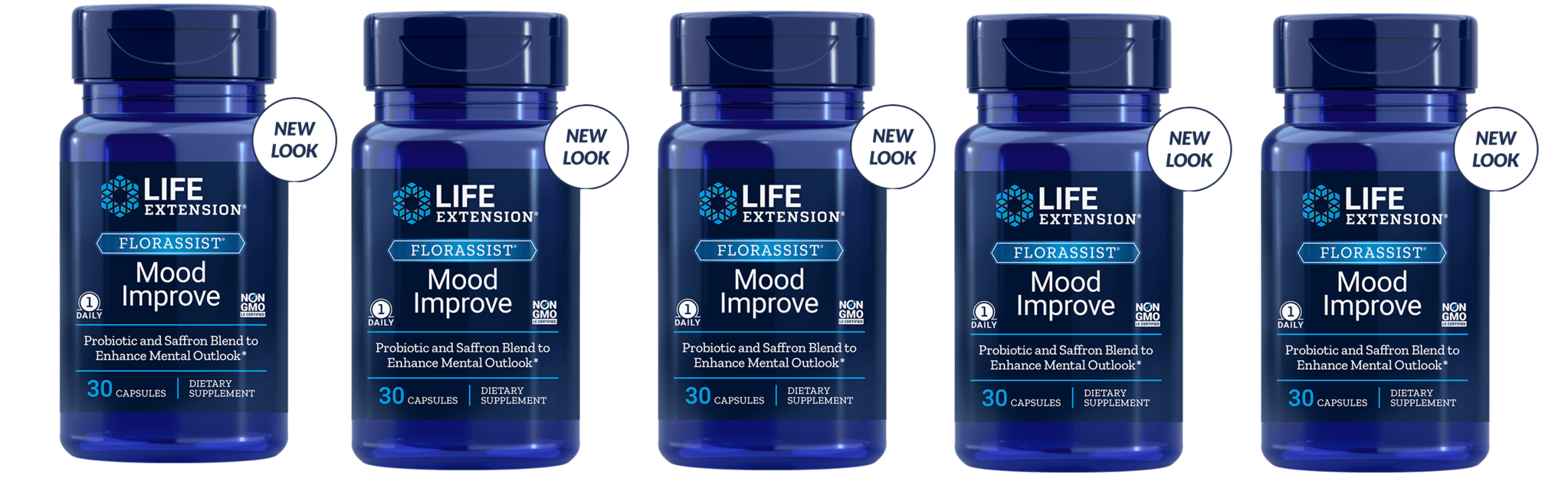 Life Extension FLORASSIST® Mood Improve, 30 Capsules, 5-pack