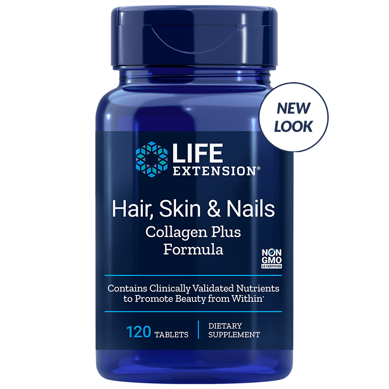 Life Extension Hair, Skin & Nails Collagen Plus Formula, 120 Tablets