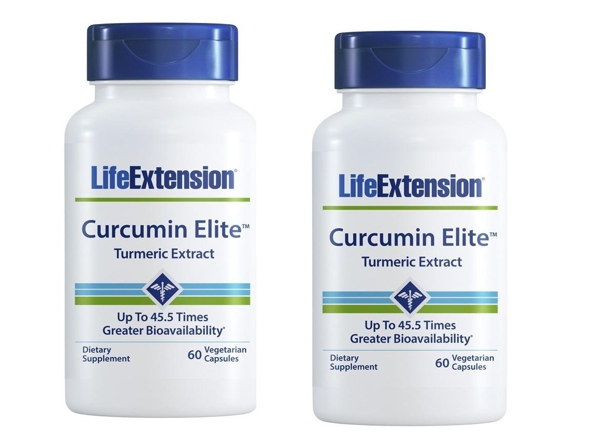 Life Extension Curcumin Elite™ Turmeric Extract, 60 Vegetarian Capsules, 2-pack
