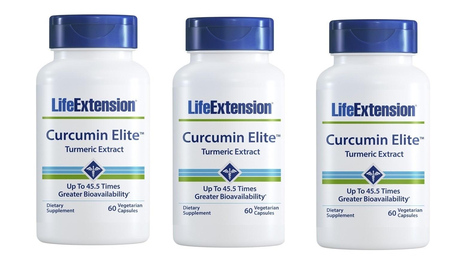 Life Extension Curcumin Elite™ Turmeric Extract, 60 Vegetarian Capsules, 3-pack