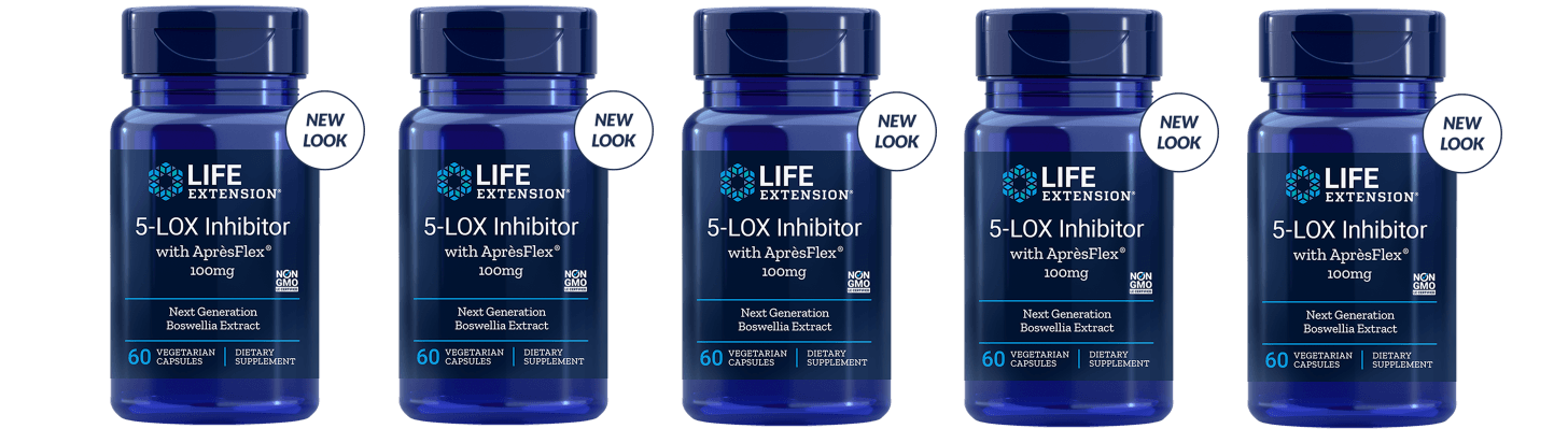 Life Extension 5-LOX Inhibitor With Aprèsflex®, 60 Vegetarian Capsules, 5-packs