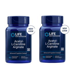 Life Extension Acetyl-L-Carnitine Arginate, 90 Vegetarian Capsules, 2-pack