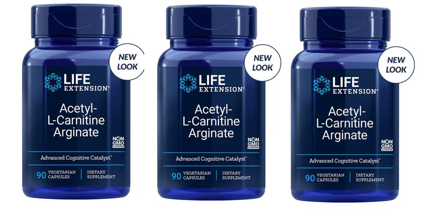 Life Extension Acetyl-L-Carnitine Arginate, 90 Vegetarian Capsules, 3-pack