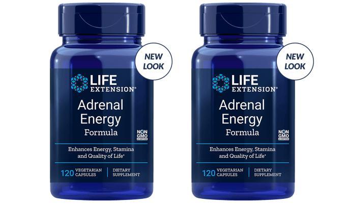 Life Extension Adrenal Energy Formula, 120 Vegetarian Capsules, 2-pack