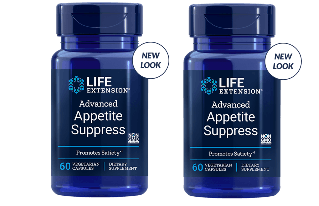 Life Extension Advanced Appetite Suppress, 60 Vegetarian Capsules, 2-pack
