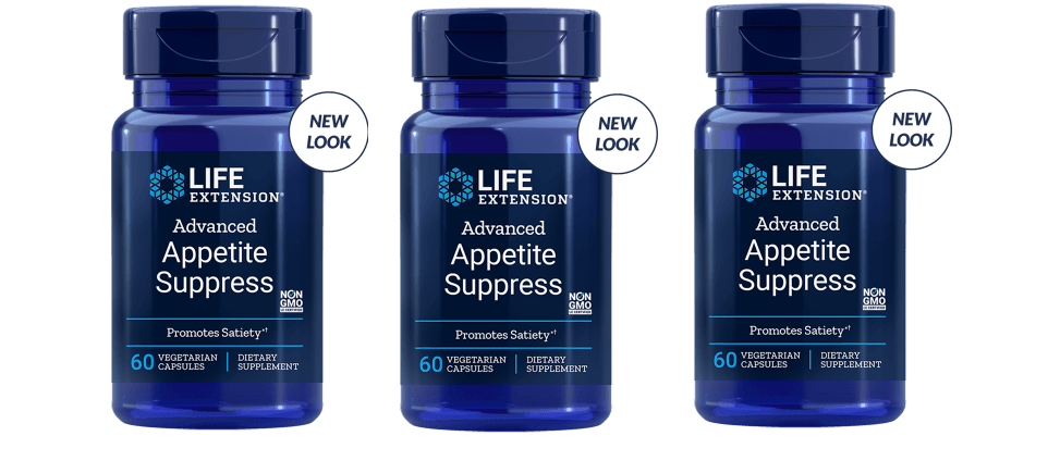 Life Extension Advanced Appetite Suppress, 60 Vegetarian Capsules, 3-pack