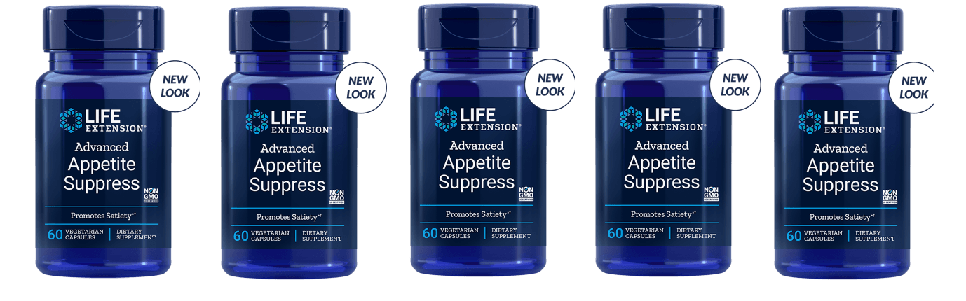Life Extension Advanced Appetite Suppress, 60 Vegetarian Capsules, 5-pack