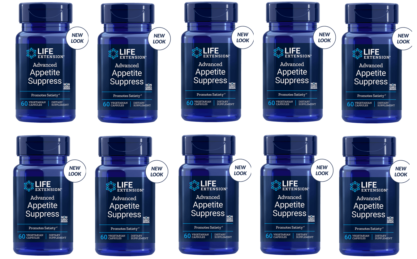 Life Extension Advanced Appetite Suppress, 60 Vegetarian Capsules, 10-pack
