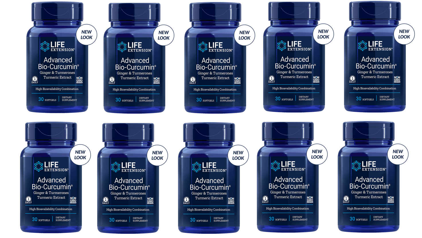 Life Extension Advanced Bio-Curcumin With Ginger & Turmerones, 10-pack