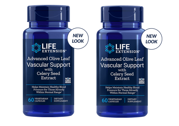 Life Extension Advanced Olive Leaf Vascular Support With Celery Seed Extract, 60 Vegetarian Capsules, 2-pack