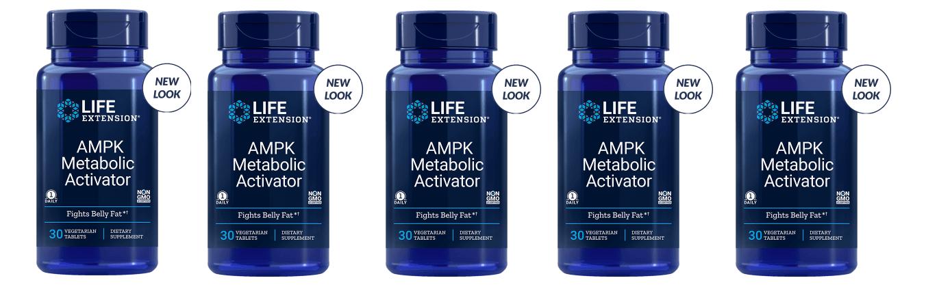 Life Extension AMPK Metabolic Activator, 30 Vegetarian Capsules, 5-pack