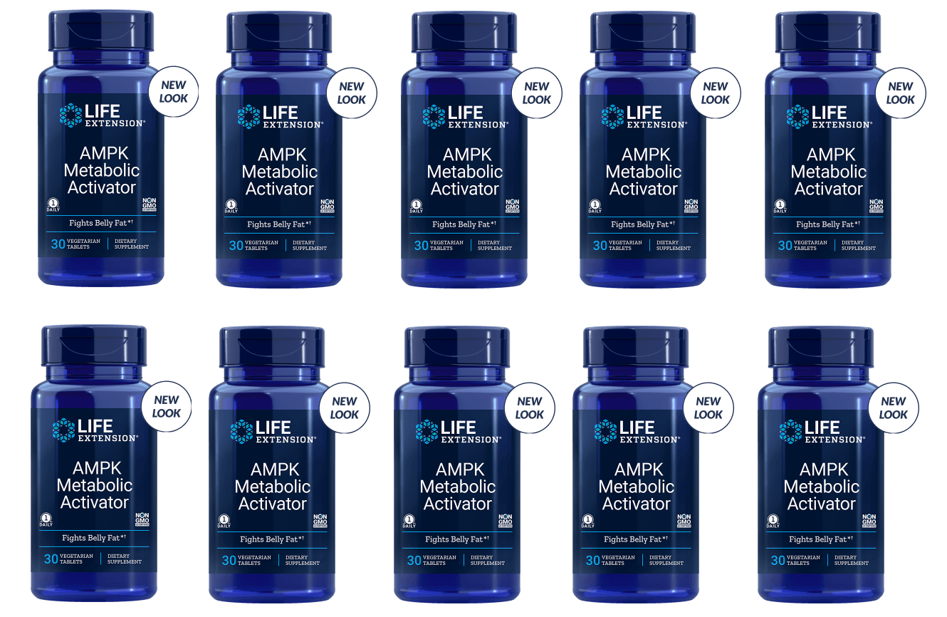 Life Extension AMPK Metabolic Activator, 30 Vegetarian Capsules, 10-pack