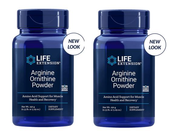 Life Extension Arginine Ornithine Powder, 150 Grams, 2-pack