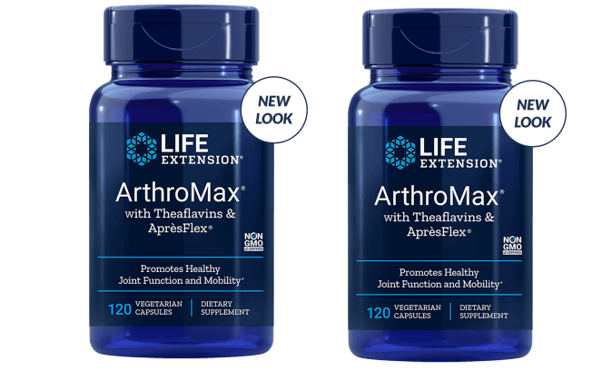 Life Extension Arthromax With Theaflavins & Aprèsflex, 2-pack