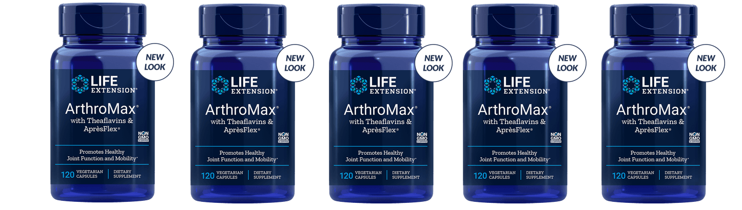 Life Extension Arthromax With Theaflavins & Aprèsflex, 5-pack