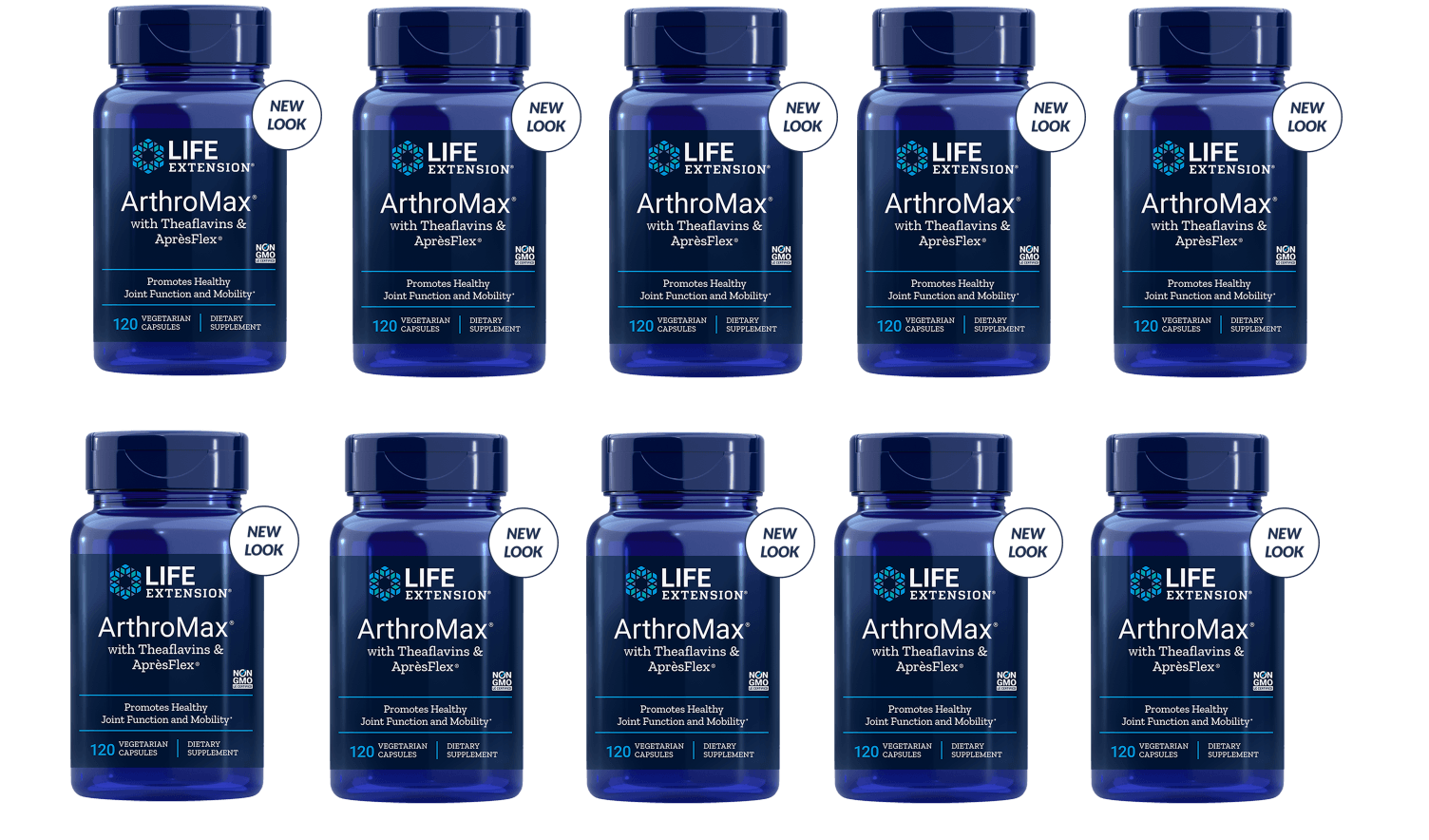 Life Extension Arthromax With Theaflavins & Aprèsflex, 10-pack