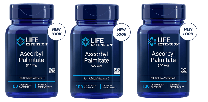 Life Extension Ascorbyl Palmitate, 500 Mg 100 Vegetarian Capsules, 3-pack