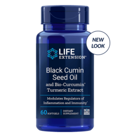 Life Extension Black Cumin Seed Oil with Bio-Curcumin, 60 Softgels
