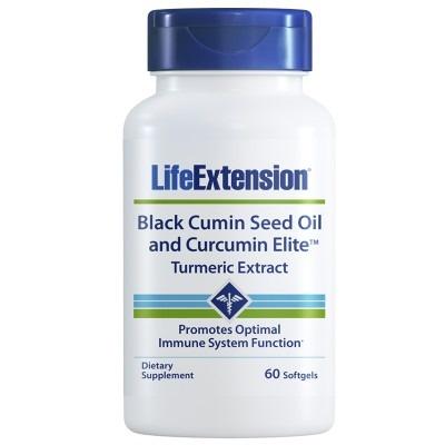 Life Extension Black Cumin Seed Oil And Curcumin Elite™ Turmeric Extract, 60 Softgels