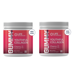 Life Extension Gummy Science™ Youthful Collagen (cherry), 80 Gummies, 2-packs