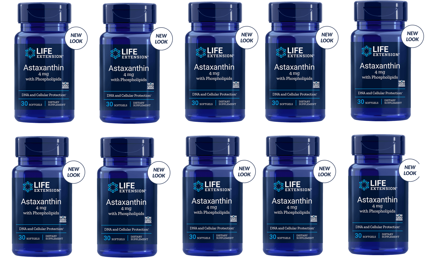 Life Extension Astaxanthin With Phospholipids | 4 Mg, 30 Softgels, 10-pack