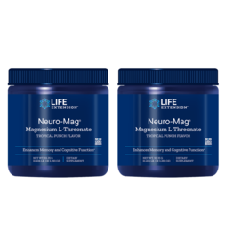 Life Extension Neuro-Mag Magnesium L-Threonate, Tropical Punch Flavor, 2-packs
