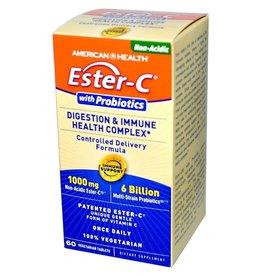 American Health Ester-C, With Probiotics, Digestion & Immune Health Complex, 60 Veggie Tabs
