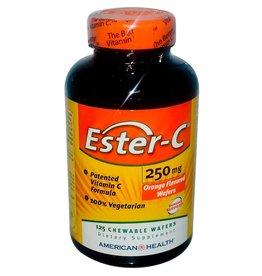 American Health Ester-C, Orange Flavor, 250 Mg, 125 Chewable Wafers
