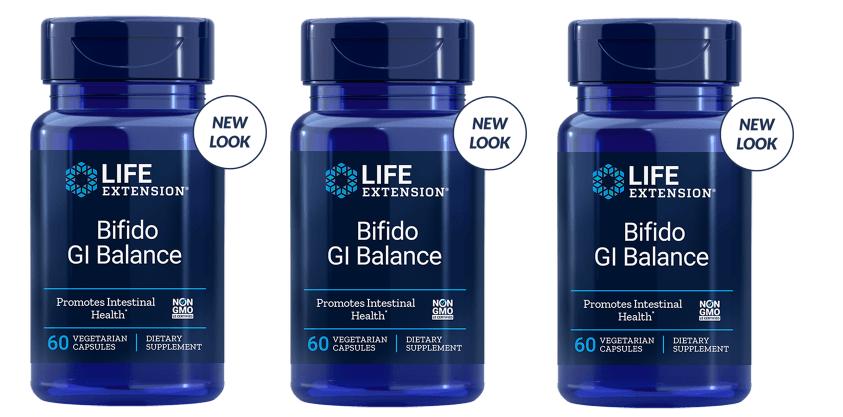 Life Extension Bifido Gi Balance, 60 Vegetarian Capsules, 3-pack