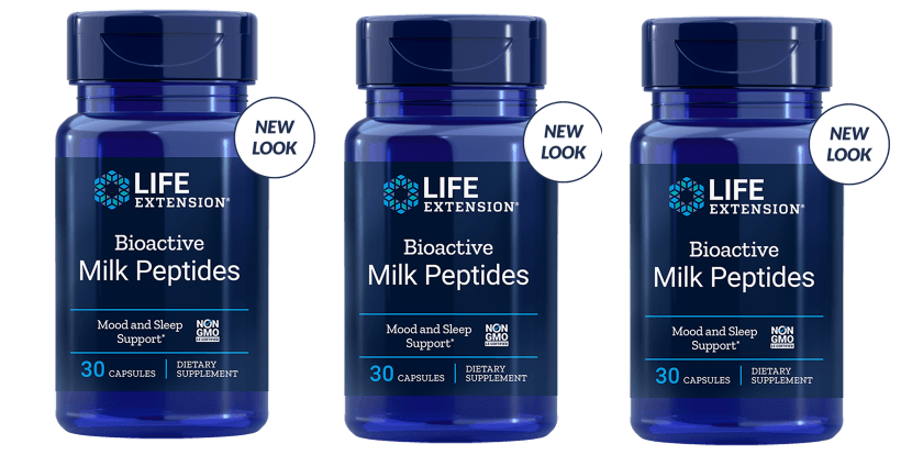Life Extension Bioactive Milk Peptides, 30 Capsules, 3-pack