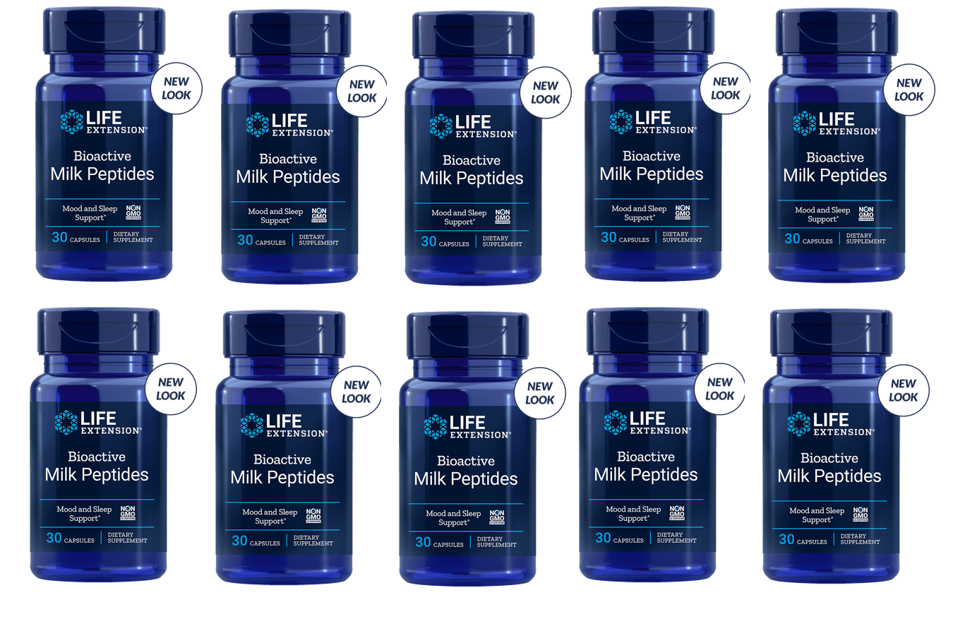 Life Extension Bioactive Milk Peptides, 30 Capsules, 10-pack