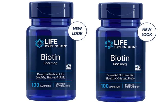 Life Extension Biotin, 600 Mcg 100 Capsules, 2-pack