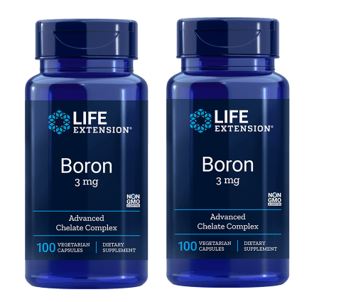 Life Extension Boron, 3 Mg 100 Vegetarian Capsules, 2-pack