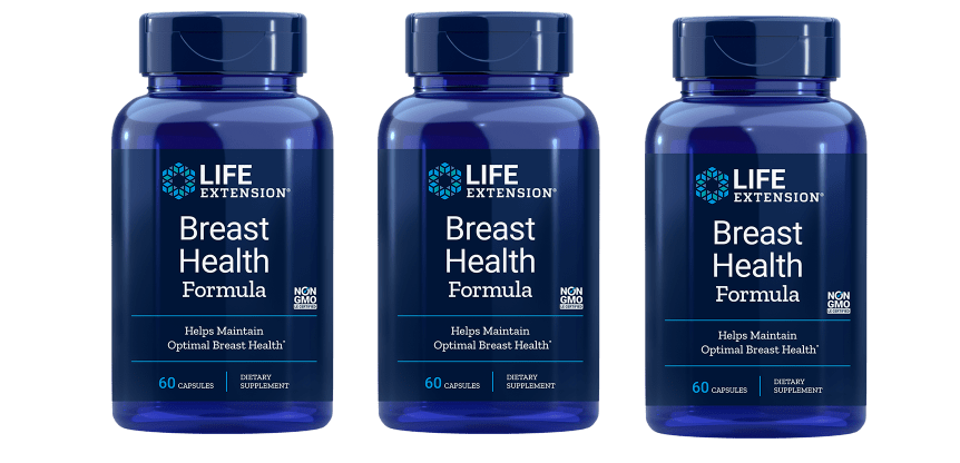 Life Extension Breast Health Formula, 60 Capsules, 3-pack