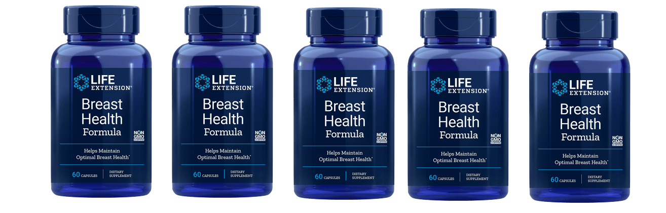 Life Extension Breast Health Formula, 60 Capsules, 5-pack