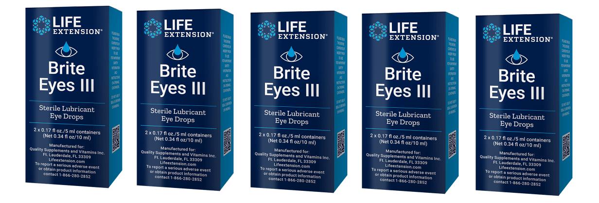 Life Extension Brite Eyes III, 5-pack