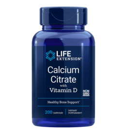Life Extension Calcium Citrate with Vitamin D, 200 Vegetarian Capsules