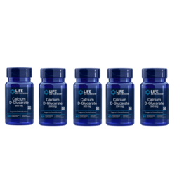 Life Extension Calcium D-glucarate, 200 Mg 60 Vegetarian Capsules, 5-pack