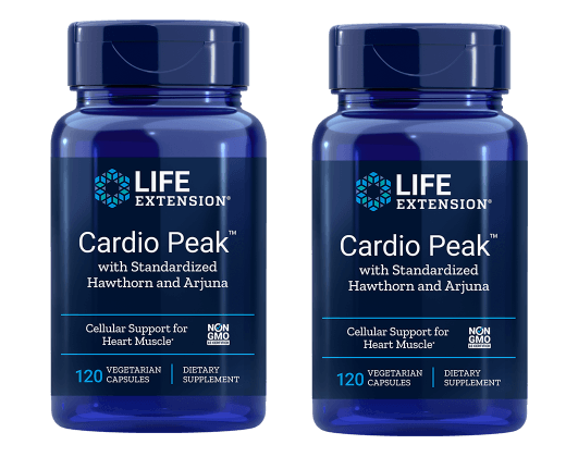Life Extension Cardio Peak With Standardized Hawthorn And Arjuna, 120 Vegetarian Capsules, 2-pack