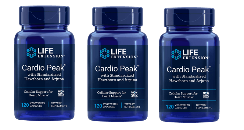 Life Extension Cardio Peak With Standardized Hawthorn And Arjuna, 120 Vegetarian Capsules, 3-pack