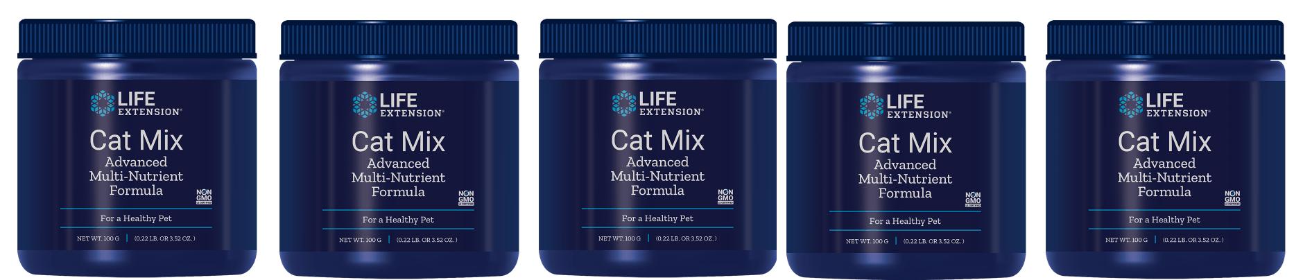 Life Extension Cat Mix, 100 Grams Powder, 5-pack