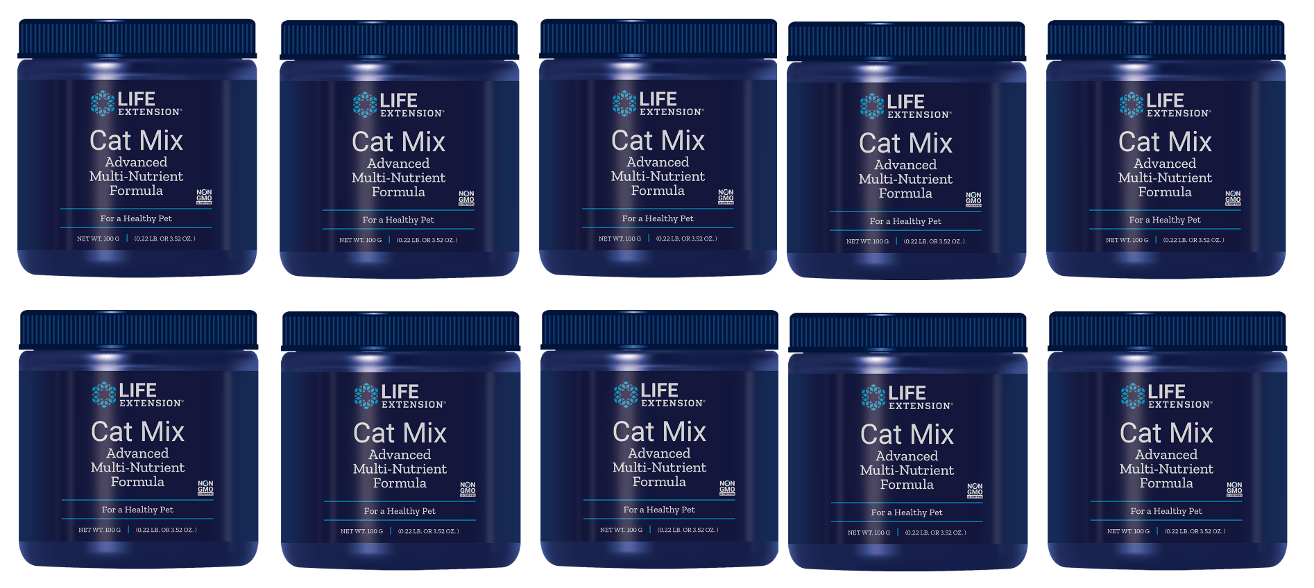 Life Extension Cat Mix, 100 Grams Powder, 10-pack