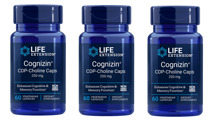 Life Extension CDP-Choline Caps, 250 Mg, 3-pack