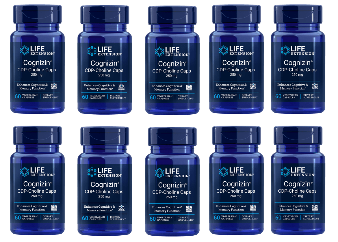 Life Extension CDP-Choline Caps, 250 Mg, 10-pack