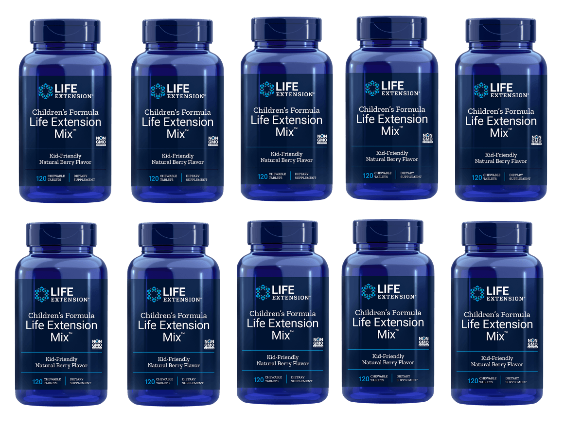 Life Extension Children's Formula Life Extension Mix, 120 Chewable Tablets, 10-pack