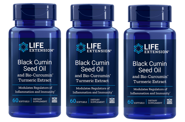 Life Extension Black Cumin Seed Oil With Bio-curcumin® | 60 Softgels, 3-pack